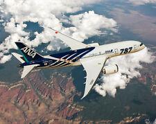 ANA ALL NIPPON AIRWAYS BOEING 787-8 DREAMLINER 8x10 SILVER HALIDE PHOTO PRINT
