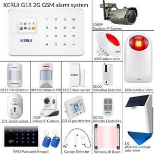 KERUI G18 Home Burglar Security Alarm GSM System Wireless Accessories Sensor Lot