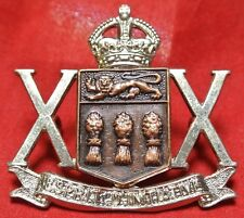WWII 20th SASKATCHEWAN REGIMENT (Tank) - Esprit D'Initiative - Kings Crown Badge