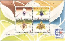 Papua New Guinea/PNG 1995 Orchids/Flowers/Plants/Nature/StampEx 4v m/s (b234)