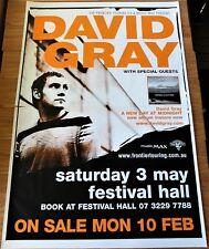 DAVID GRAY POSTER 2003 HUGE 2 Sheet TOUR BRISBANE FESTIVAL HALL Music Rock