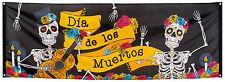 DIAPOSITIVA DE LOS MUERTOS BANDERA 74x220cm NUEVO - Artículos Fiesta Decoración