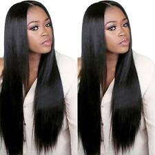 Womens Black Full Long Straight Wig Lady Adults Cosplay Costume Fancy Party Wigs