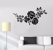 Vinyl Wall Decal Garden Flowers Bouquet Roses Bedroom Design Stickers (967ig)