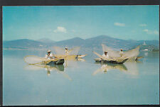 Mexico Postcard - Tipical Indian Fishermen at Lake Janitzio, Michoacan   A6484
