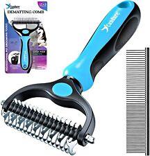 More details for grooming dog cat comb removes under coat rake dematting comb pet care brush tool