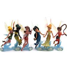 6Pcs Disney Fairies Secret Of The Wings Tinker Bell 3.5In. Figure Peter Pan M204