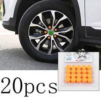 20Pcs Blue Car Wheel Nut Lug Dust Cover Cap Protector Tyre Bolt Hub Screw Cap