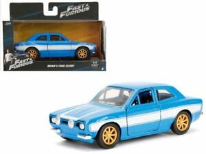 FAST & FURIOUS BRIAN'S 1974 FORD ESCORT RS2000 MK1 BLUE BY JADA 1:32 97188 NEW
