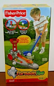 New Sealed Fisher-Price Tornado Tee Toy Golf Game Learn to Golf