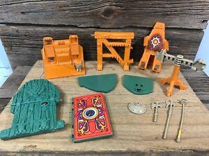 Vintage MOTU Castle Grayskull Weapons and Parts Lot READ DESCRIPTION
