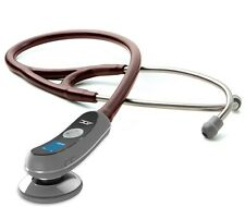 NEW ADC Adscope Model 658 Electronic Digital Amplified Stethoscope BURGUNDY