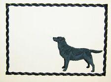 Black Lab Embroidered quilt label Labrador Retriever dog canine includes message