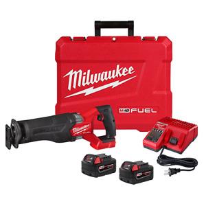 Milwaukee 2821-22 M18 FUEL Sawzall Reciprocating Saw - 2 Battery XC5.0 Kit