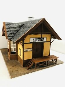 "Vintage POLA-LGB 907 ""SILVERTON"" Railway Express Train Building G-Scale Rare!!!"