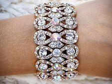 Ab crystal bracelet gold ballroom latin dance competition fitness bikini