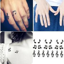 Waterproof Temporary Tattoo Sticker Ear Music Note Body Tatto Henna Art T2J6