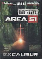 Bob Mayer Excalibur Area 51 MP3 CD Audio Book Unabridged FASTPOST