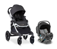 Baby Jogger City Select Travel System Stroller w/ City GO 2 Infant Car Seat Jet