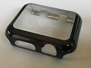 Panzerschutz Display Schutz Apple Watch Series 6 Cover für 40 mm schwarz