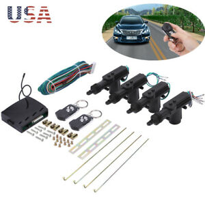 For Auto Vehicle Universal 4 Door Power Central Lock Kit with 2 Keyless Actuator