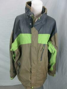 Columbia Size XL Mens Brown Athletic Full Zip Nylon No Hood Ski Jacket T735