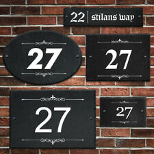 Personalised Slate House Number UV Printed Door Number House Gate Sign Plaque