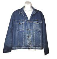 Vintage WRANGLER Authentic Western Blue Denim Jacket Size Men's XXL
