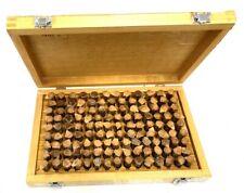 Nib Wooden Case 125pc M4 626 750 Inch Plug Pin Gage Set Minus Steel New