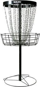 MVP Black Hole Pro 24 Chain Portable Disc Golf Basket Target Accessories