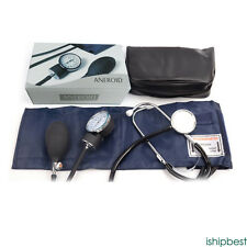 1 Pcs Manual Home Blood Pressure Monitor and Cuff Stethoscope Sphygmomanometer