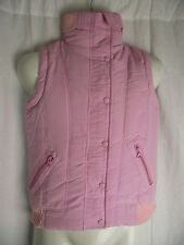 BNWT Girls Sz 14 Cherrylane Cute Pastel Pink Warm Padded Zip Front Puffer Vest