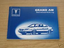 Betriebsanleitung Pontiac Grand AM in deutsch !