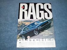 """1972 Dodge Challenger Restomod Article """"Of Rags and Glitches"""""""
