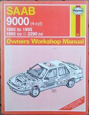 Saab 9000 (Petrol) Haynes Workshop Manual from 1985 to 1995.