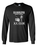 538 Hawkins Middle School AV Club Long Sleeve Shirt stranger tv things costume