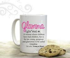 Glamma Dictionary Definition 15 ounce Ceramic Coffee Mug for Grandma Mothers Day