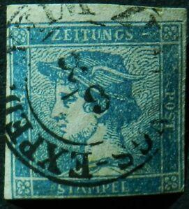 Austria 1851 (0.6k) SG N11b Newspaper stamp Used Cat £160