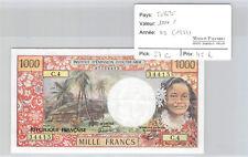 Tahiti Papeete 1000 Francs Non daté (1983) C.4 n° 07734415 Pick 27c