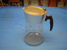Douglas Flameproof Glass Coffee Pot with Patten In Gold Good Condition