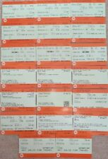 National Rail Tickets and Coupons to/from London (not valid for travel, expired)