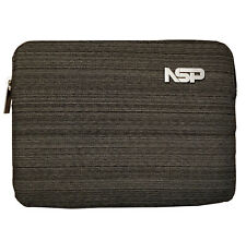 """10"""" iPad/Tablet Sleeve Protective Carry Case with Zip in Modern Grey"""