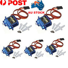 AU 5PCS SG90 Micro Servo Motor 9G RC Robot Helicopter Airplane Car Boat Controls