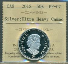 Canada 2012 Silver 50 cent ICCS PF 67 UHC