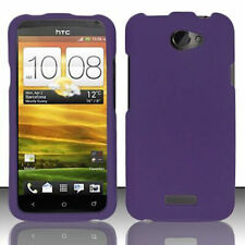 For AT&T HTC ONE X Rubberized HARD Case Snap On Phone Cover Dark Purple