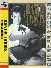 RANDY TRAVIS HEROES & FRIENDS  DUETS CASSETTE ALBUM DOLLY PARTON TAMMY WYNETTE