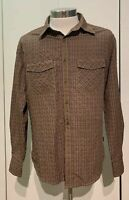 Kuhl Men's Button Up Flannel Shirt Brown Plaid Long Sleeve Size Medium