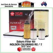 SAKURA FILTER KIT OIL FUEL AIR CABIN SERVICE HOLDEN COLORADO RG / 7 2012 - 2018