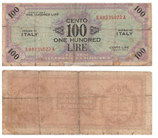 BANCONOTA Lire 100 OCCUPAZIONE AMERICANA AM LIRE 1943 American Occupation