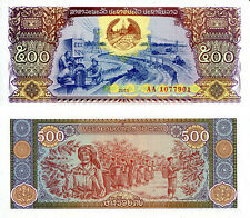 LAOS 500 Kip Banknote World Paper Money UNC Currency Pick p31 2015 Bill (LAO)